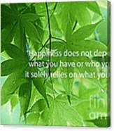 Happiness A Simple Reminder Canvas Print