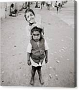 Happiness In India Canvas Print