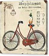 Happiness Is My Bicycle Canvas Print