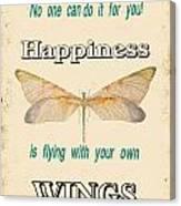 Happinesstypography Canvas Print