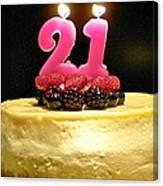 Happy 21st Birthday Canvas Print