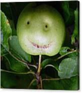 Happy Apple Canvas Print