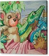 Happy Baby Dragon Canvas Print