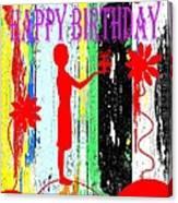Happy Birthday 7 Canvas Print