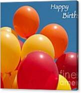 Happy Birthday Balloons Canvas Print