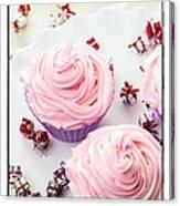 Happy Birthday Cupcakes Canvas Print