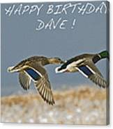 Happy Birthday Dave  Canvas Print