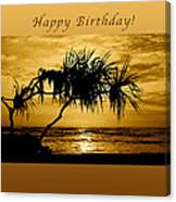 Happy Birthday Golden Sunrise Canvas Print