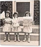 Happy Birthday Retro Photograph Canvas Print