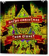 Happy Christmas From Sydney Canvas Print