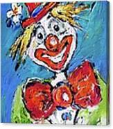Happy Clown-ideal For Childrens Nurserys Canvas Print
