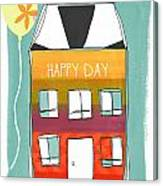 Happy Day Card Canvas Print