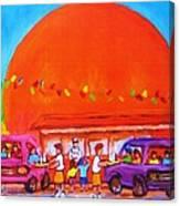 Happy Days At The Big  Orange Canvas Print