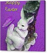 Happy Easter Card 4 Canvas Print