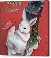 Happy Easter Card 5 Canvas Print