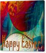 Happy Easter Greeting Card Canvas Print