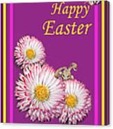 Happy Easter Hiding Bunny Canvas Print