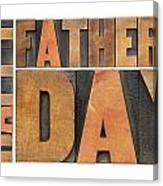 Happy Father Day Canvas Print