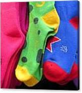 Wear Loud Socks Canvas Print