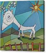 Happy Goat Canvas Print