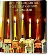 Happy Hanukkah 5 Canvas Print