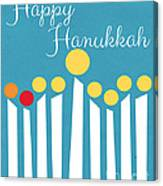 Happy Hanukkah Menorah Card Canvas Print