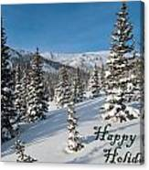 Happy Holidays - Winter Wonderland Canvas Print