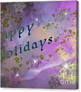Happy Holidays Card Canvas Print