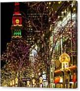 Happy Holidays Downtown Denver Co Canvas Print