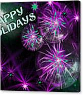 Happy Holidays Canvas Print