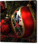 Happy Holidays Greeting Card Canvas Print