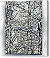 Happy Holidays Greeting - Icicles On Trees Canvas Print