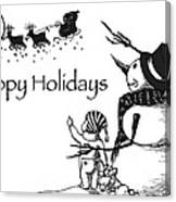 Happy Holidays Canvas Print