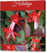 Happy Holidays Natural Christmas Card Or Canvas Canvas Print