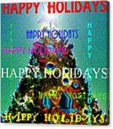 Happy Holidays Word Splash A Canvas Print