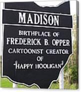 Happy Hooligan Canvas Print