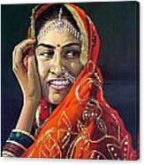 Happy Indian Women Canvas Print