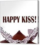 Happy Kiss Canvas Print