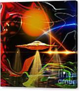 Happy Landing Canvas Print