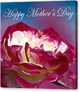 Happy Mother's Day Red Pink White Rose Canvas Print