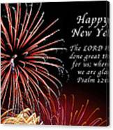 Happy New Year Psalm 123-3 Canvas Print