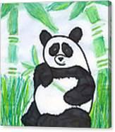 Happy Panda O.o. Canvas Print