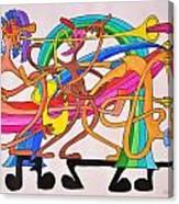 Happy People Horns Canvas Print