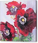 Happy Poppies Canvas Print