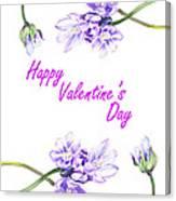 Happy Purple Valentine Canvas Print