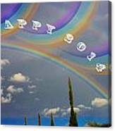 Happy Rainbows Canvas Print