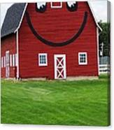 Happy Red Barn Canvas Print