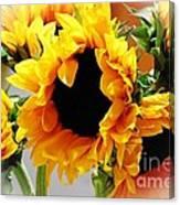 Happy Sunflowers Canvas Print
