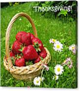 Happy Thanksgiving Card Canvas Print