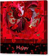 Happy Valentine's Day Card Canvas Print